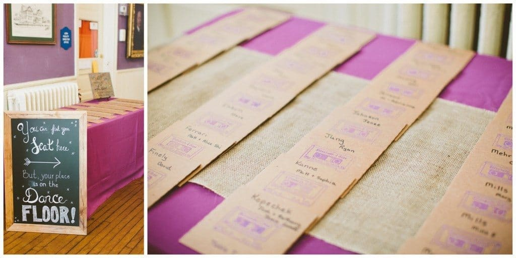 escort cards wedding
