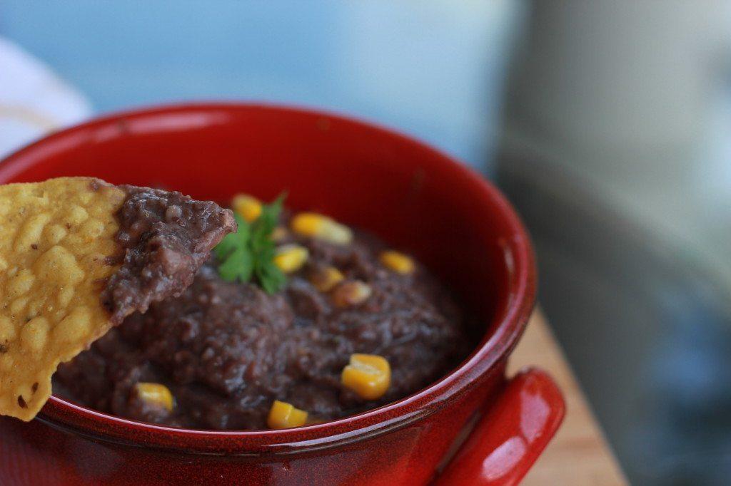 black bean dip, vegan & gluten free