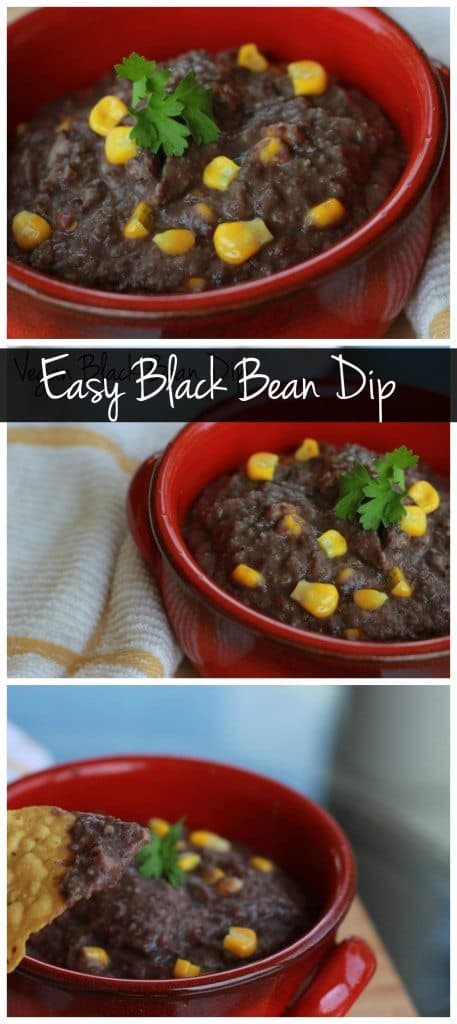 This vegan and gluten free black bean dip is not only healthy, but it's SO easy to make! Serve it with tortilla chips or your favorited chopped raw veggies!