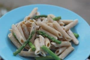 Frugal Fridays- Goat Cheese Pasta with Asparagus
