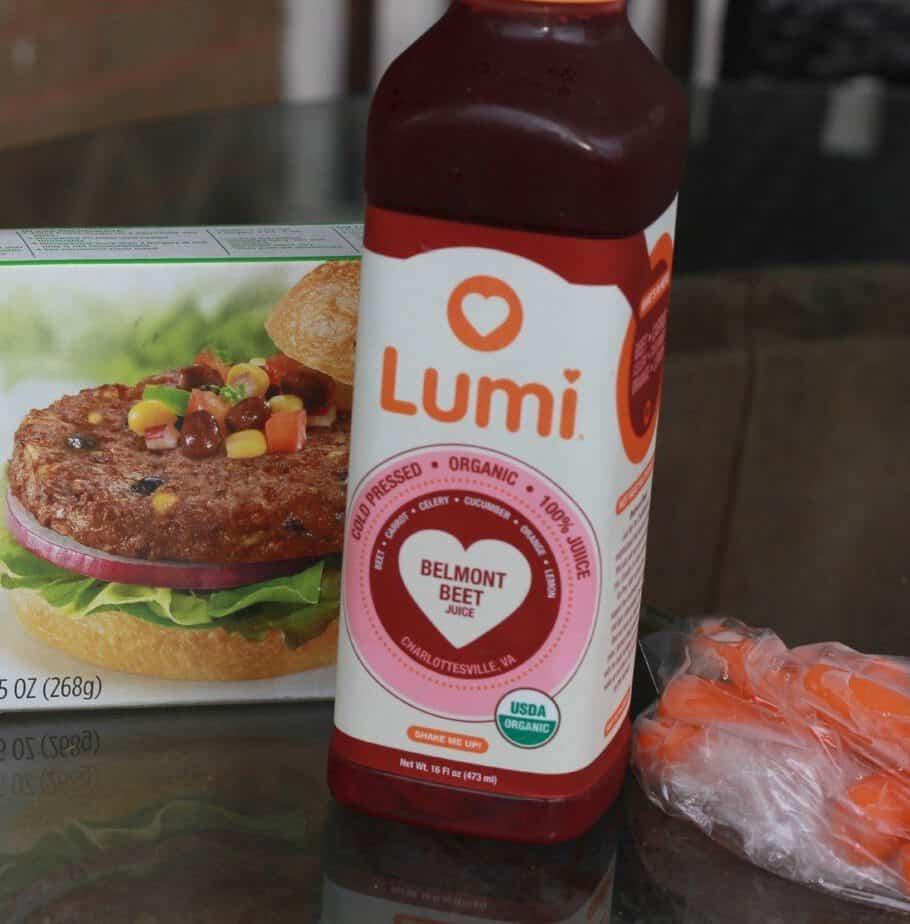 lunch lumi juice
