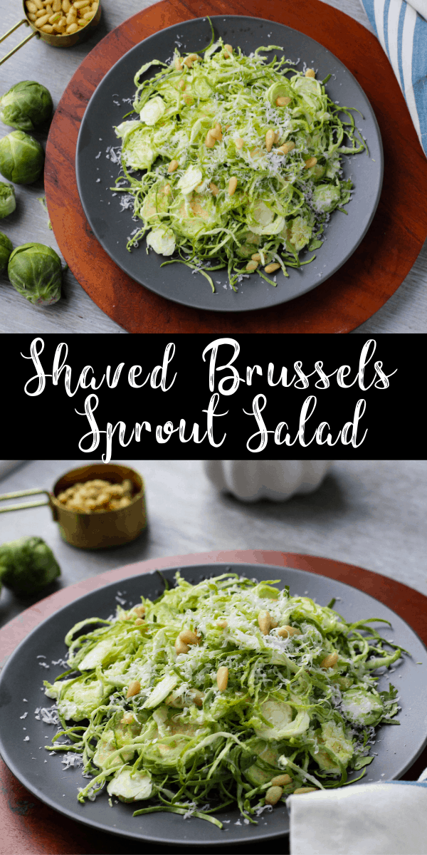 Shaved Brussels Sprouts with Parmesan & Lemon