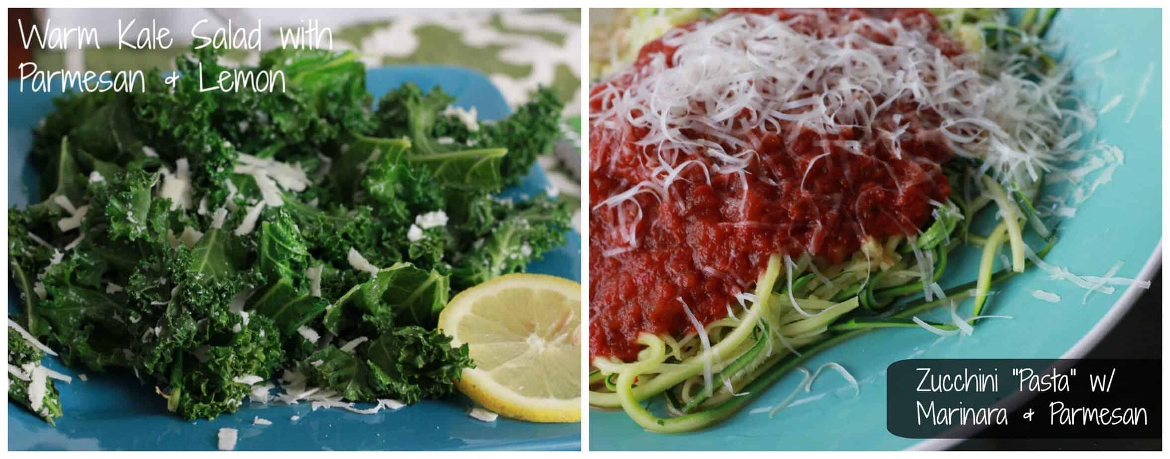 Frugal Fridays- Zucchini Pasta & Kale Salad