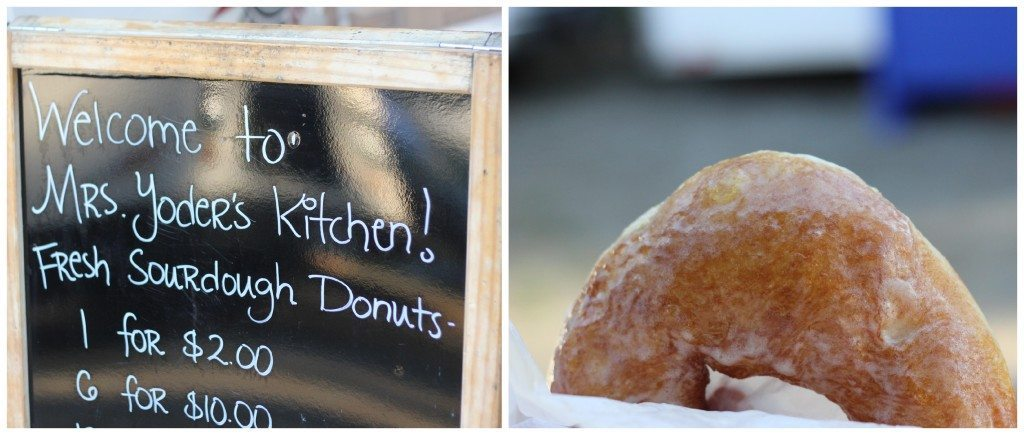 donuts at the farmers market
