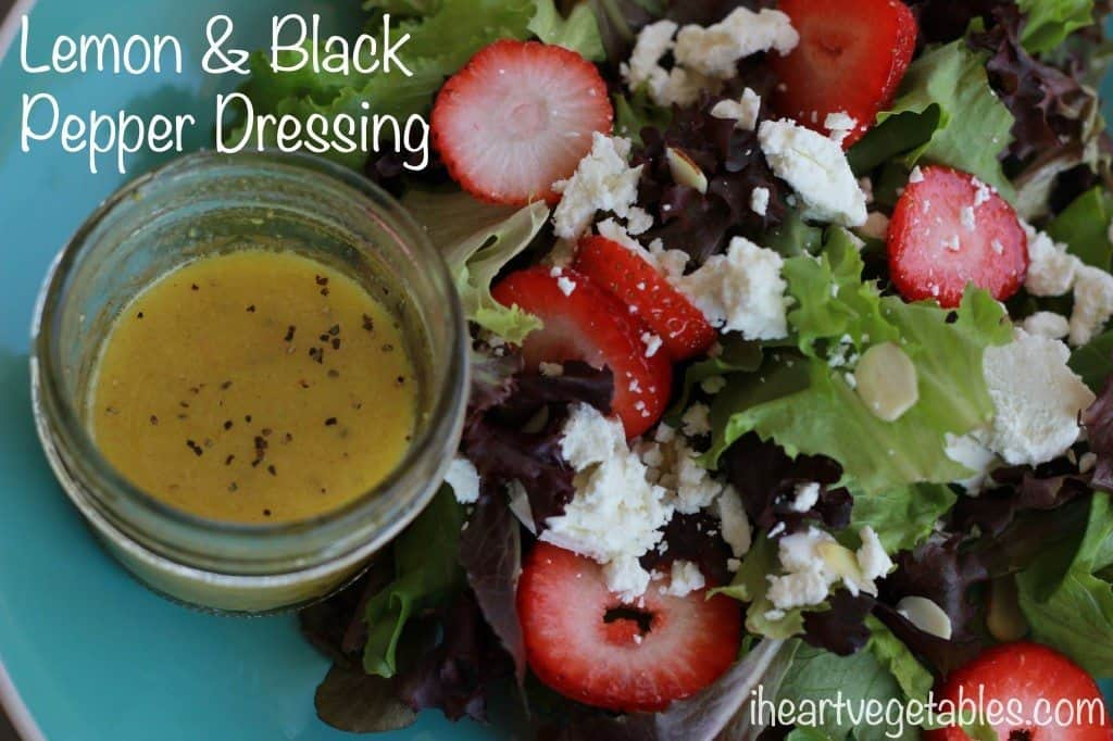 lemon and black pepper salad dressing