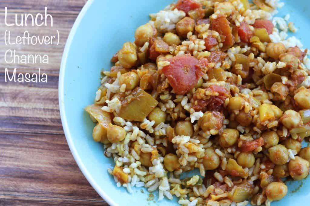 Lunch Channa Masala