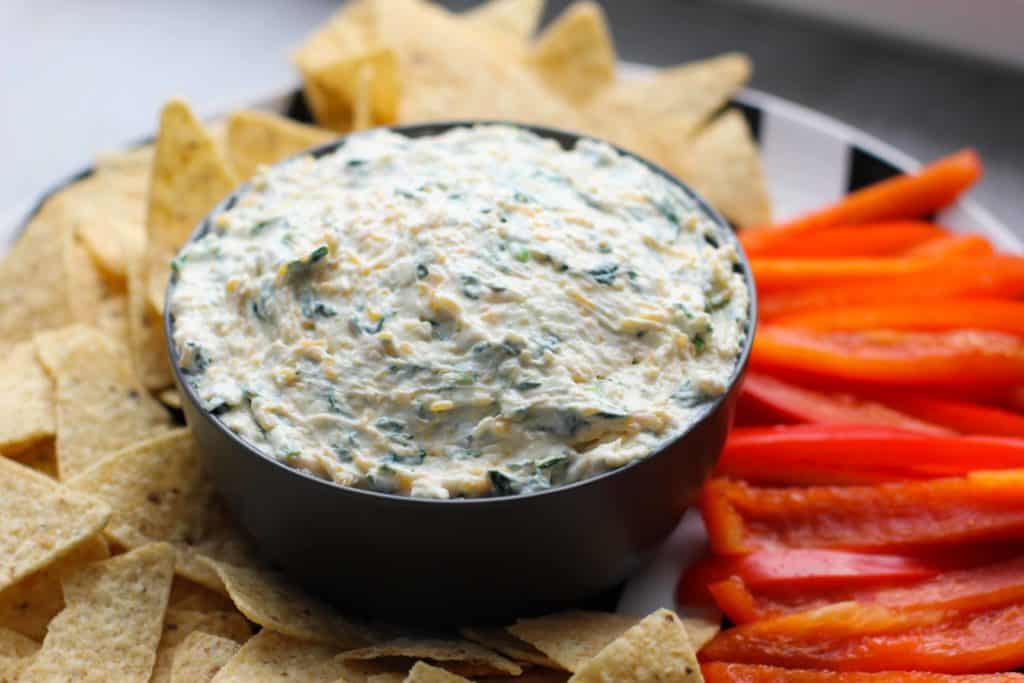 spinach dip in a bowl