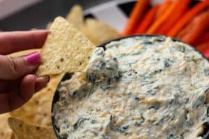 Skinny Spinach Dip with Greek Yogurt