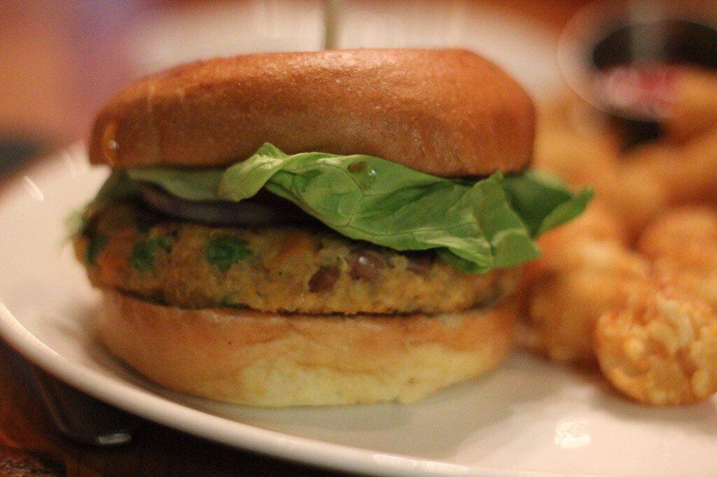 Blue Goat Veggie Burger