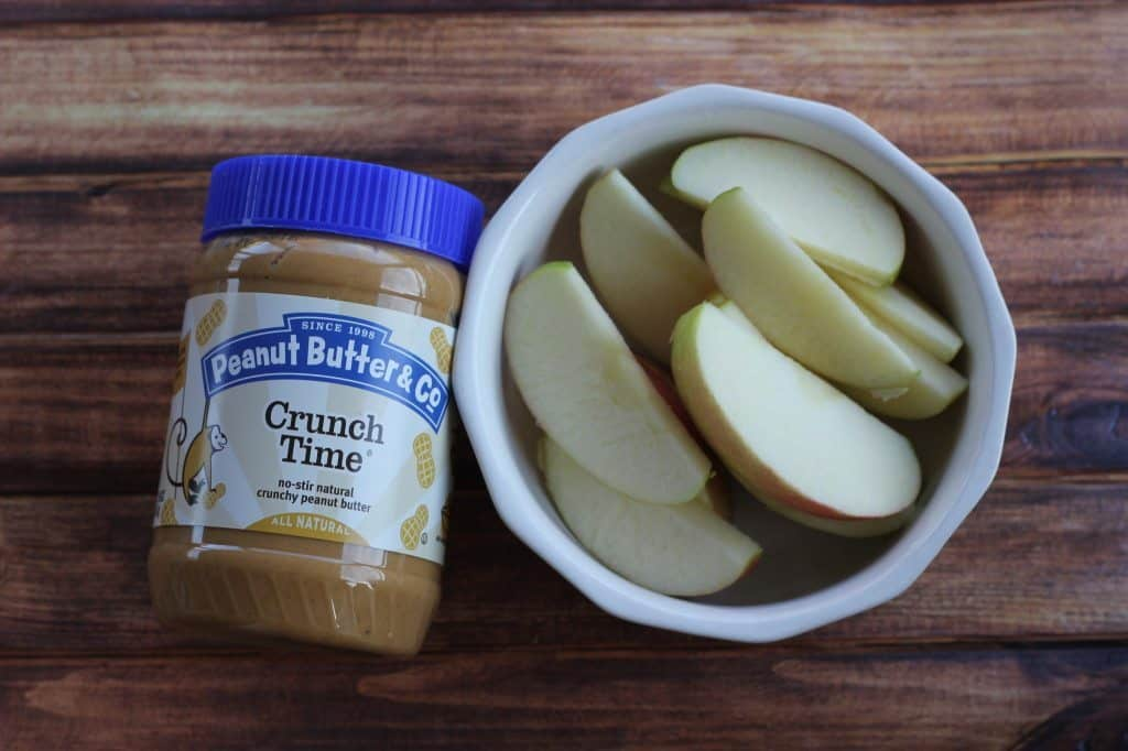 Crunch time peanut butter and apples