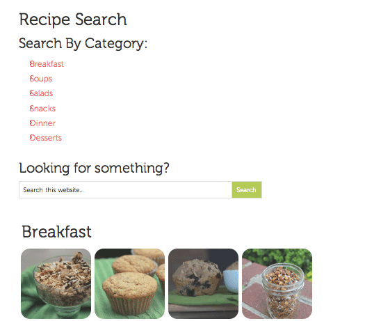 My New Recipe Page & Yesterday's Meals