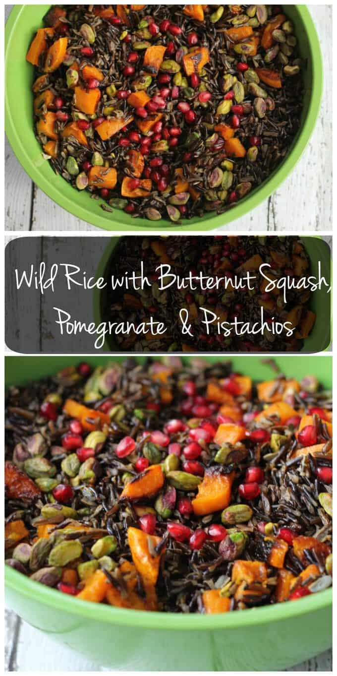 This while rice and butternut squash salad makes a great Thanksgiving side dish because it\'s colorful and a little unexpected. Since this dish is vegan and gluten-free, everyone can enjoy it!