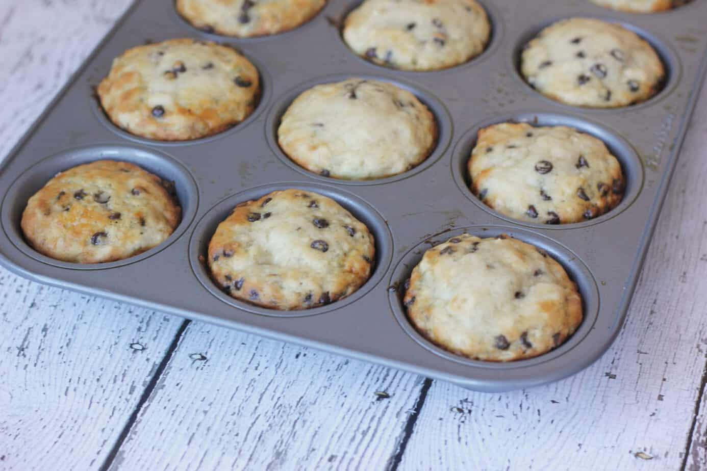 The Easiest Banana Chocolate Chip Muffins - I Heart Vegetables