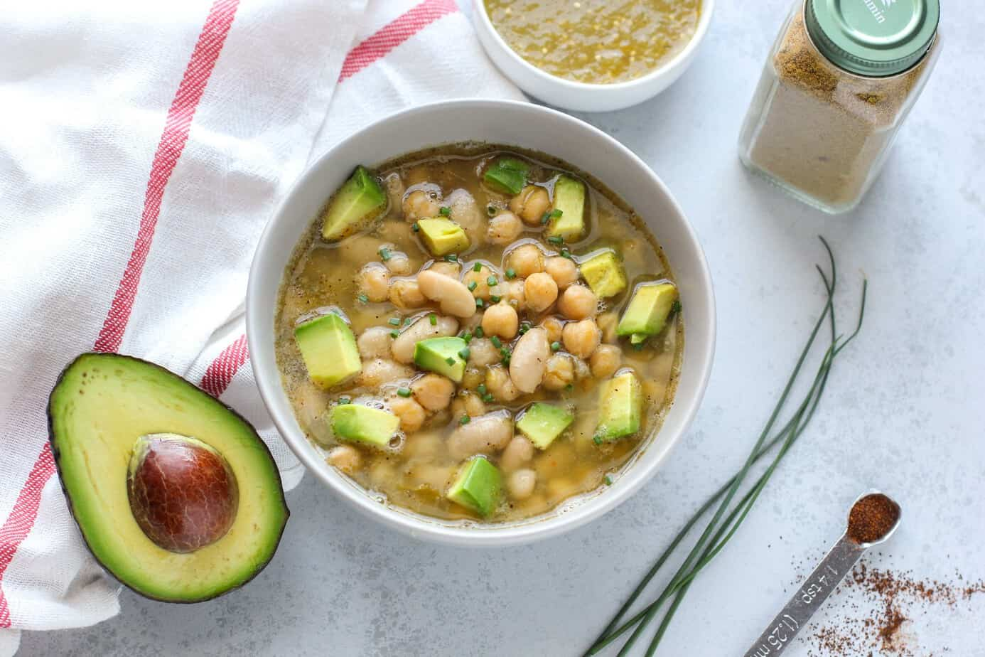 vegan chili verde soup