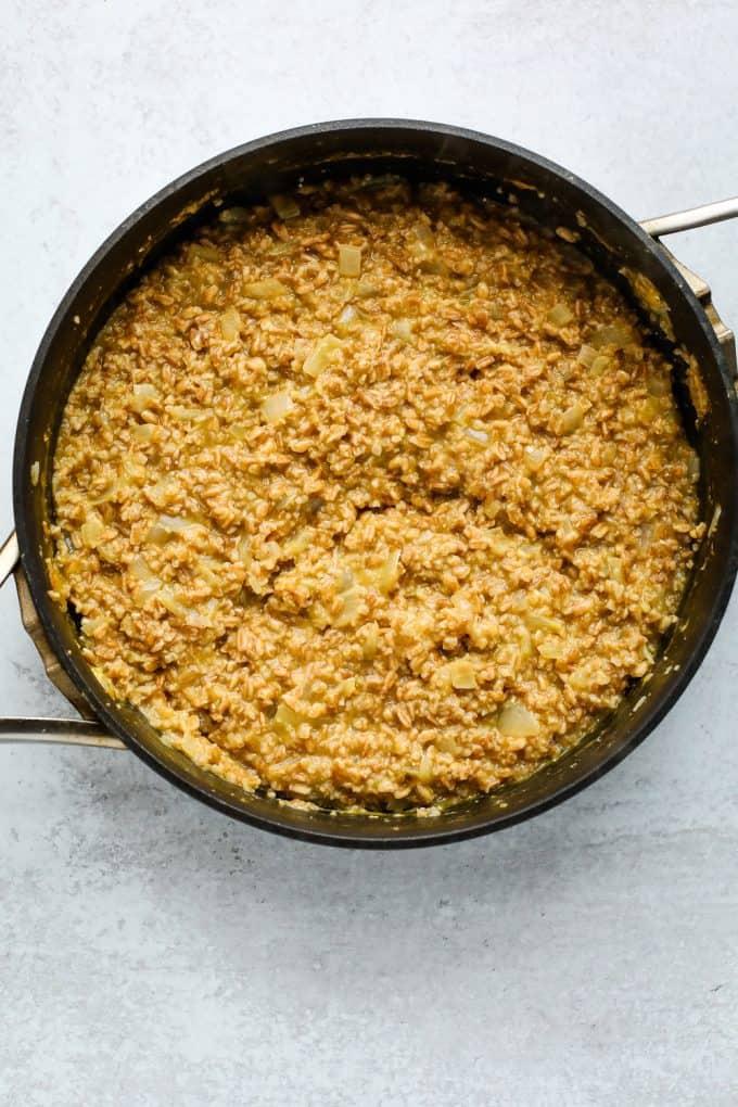 farro risotto