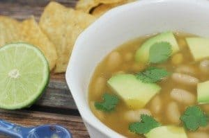 Chili Verde with White Beans & Chickpeas