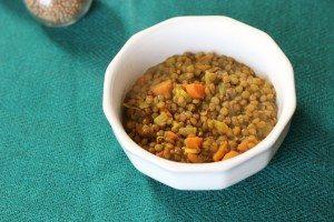 moroccan lentil stew bowl