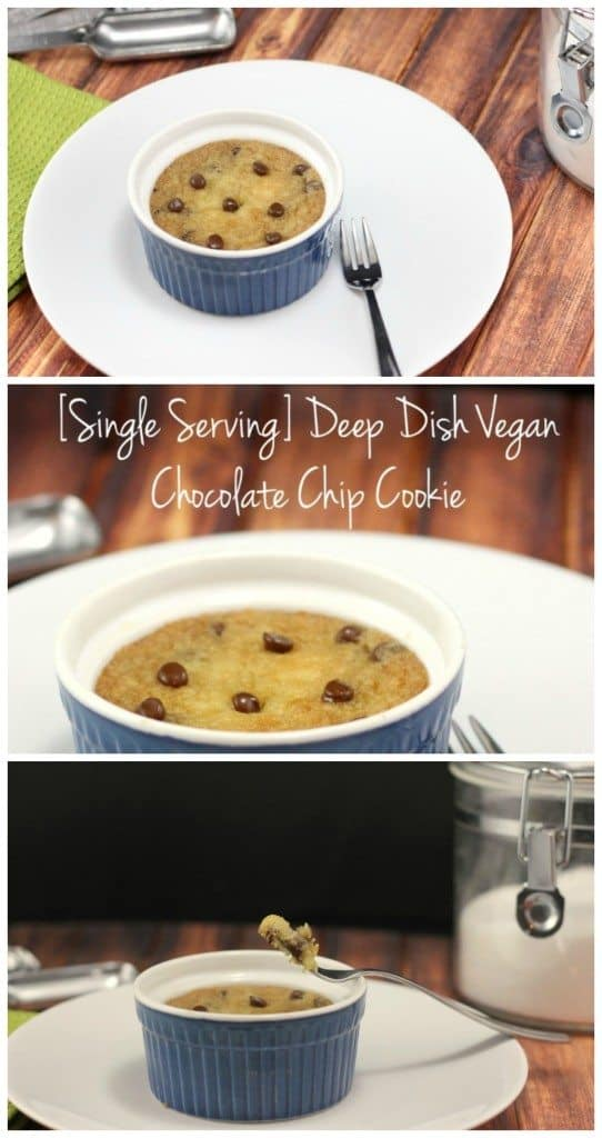 single serving vegan cookie recipe