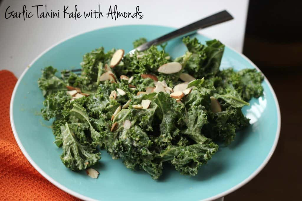 kale with almonds