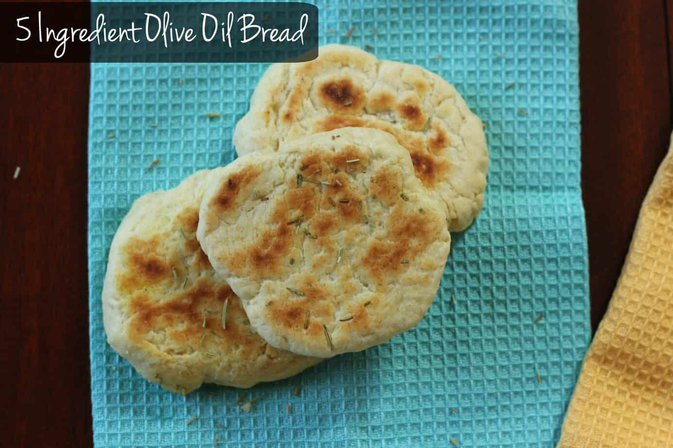 5 Ingredient Olive Oil Bread (No Yeast Required)