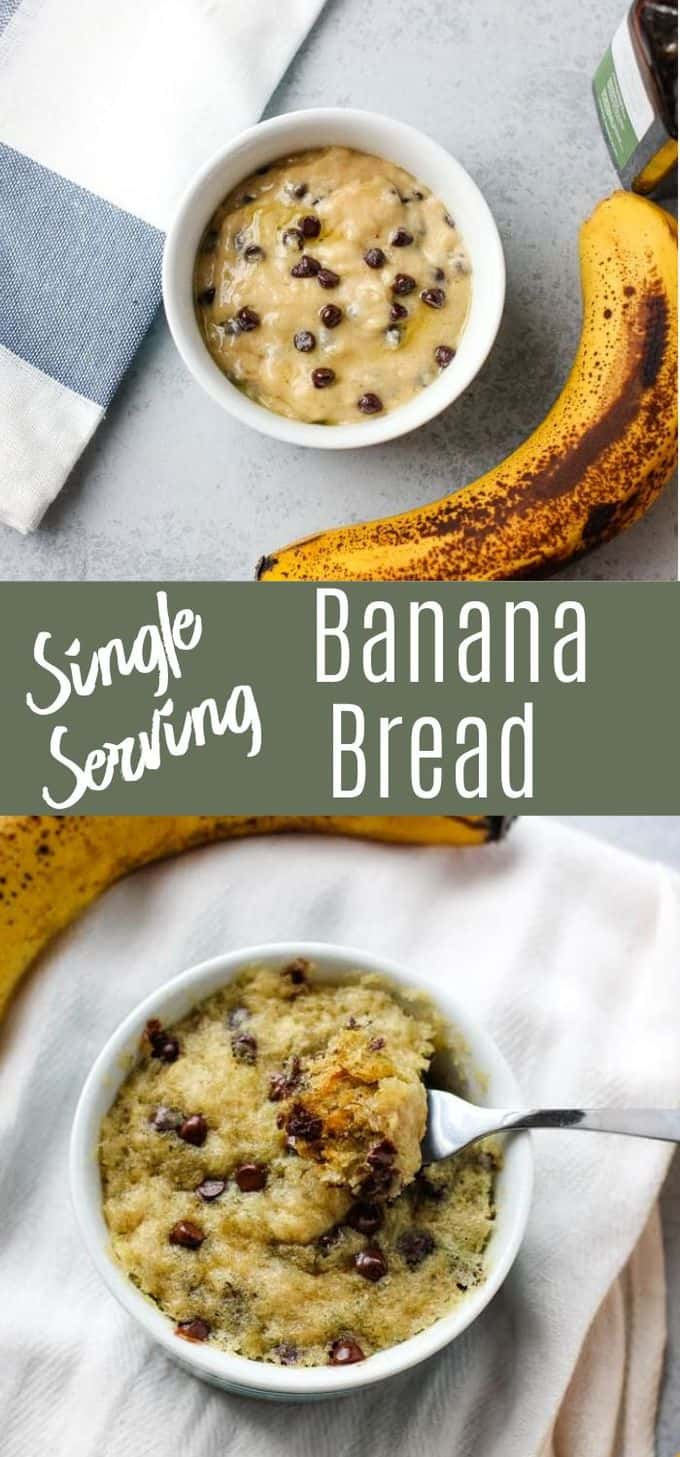 Single Serving Banana Bread [Vegan]