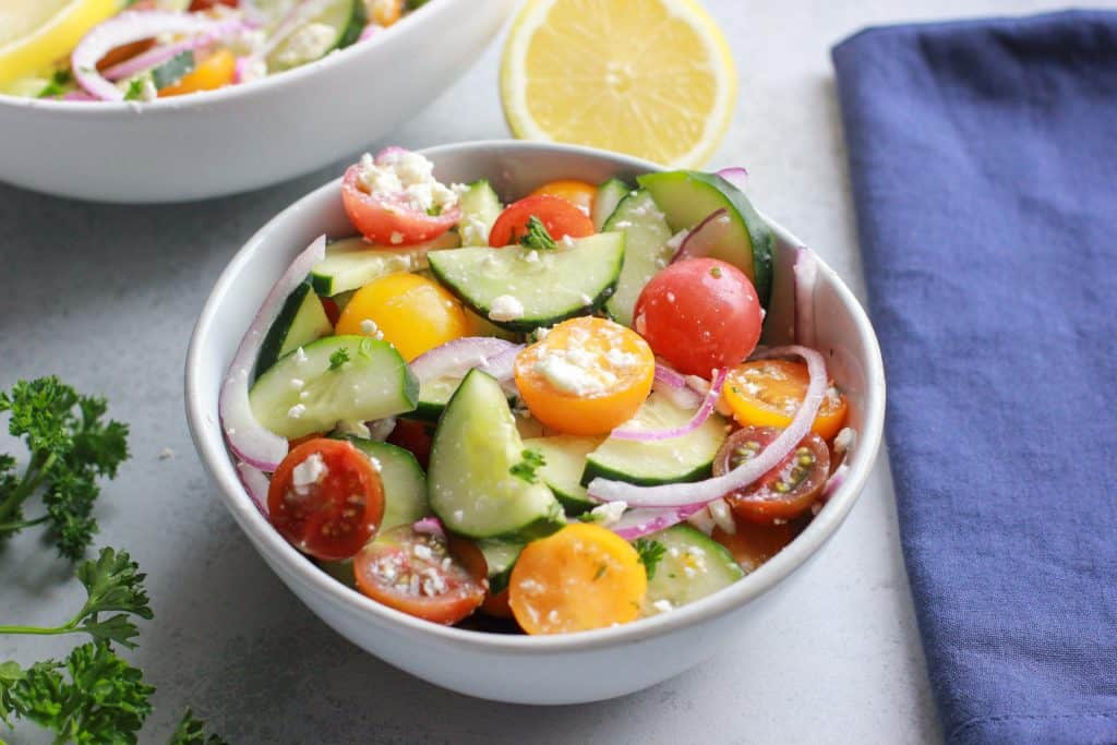 Greek Cucumber Tomato Salad