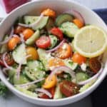 Greek Cucumber & Tomato Salad