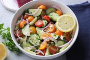 Greek Cucumber & Tomato Salad