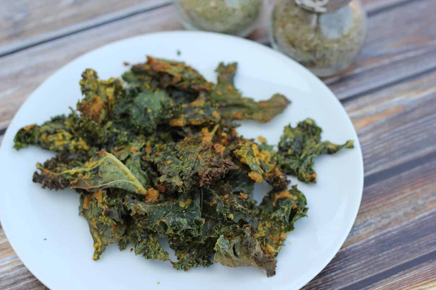In preparation for some healthy snacking, I made some kale chips ...
