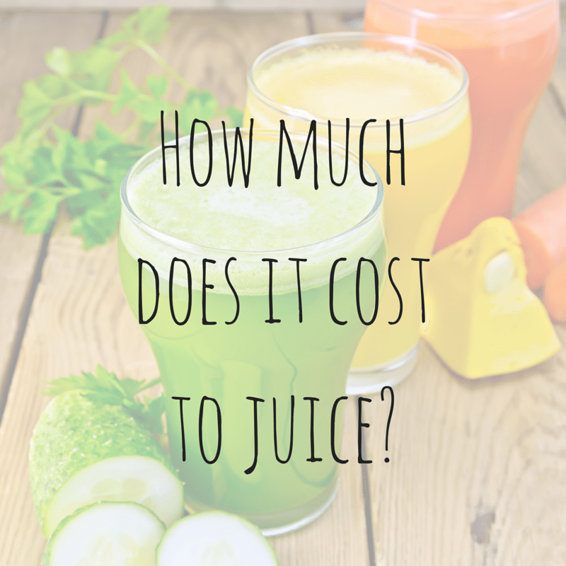 How Much Does it Cost to Juice?