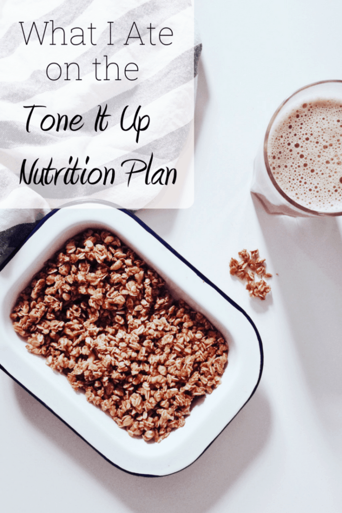Thinking about trying the Tone It Up nutrition plan? See what I ate on a full day of the Tone It Up meal plan!