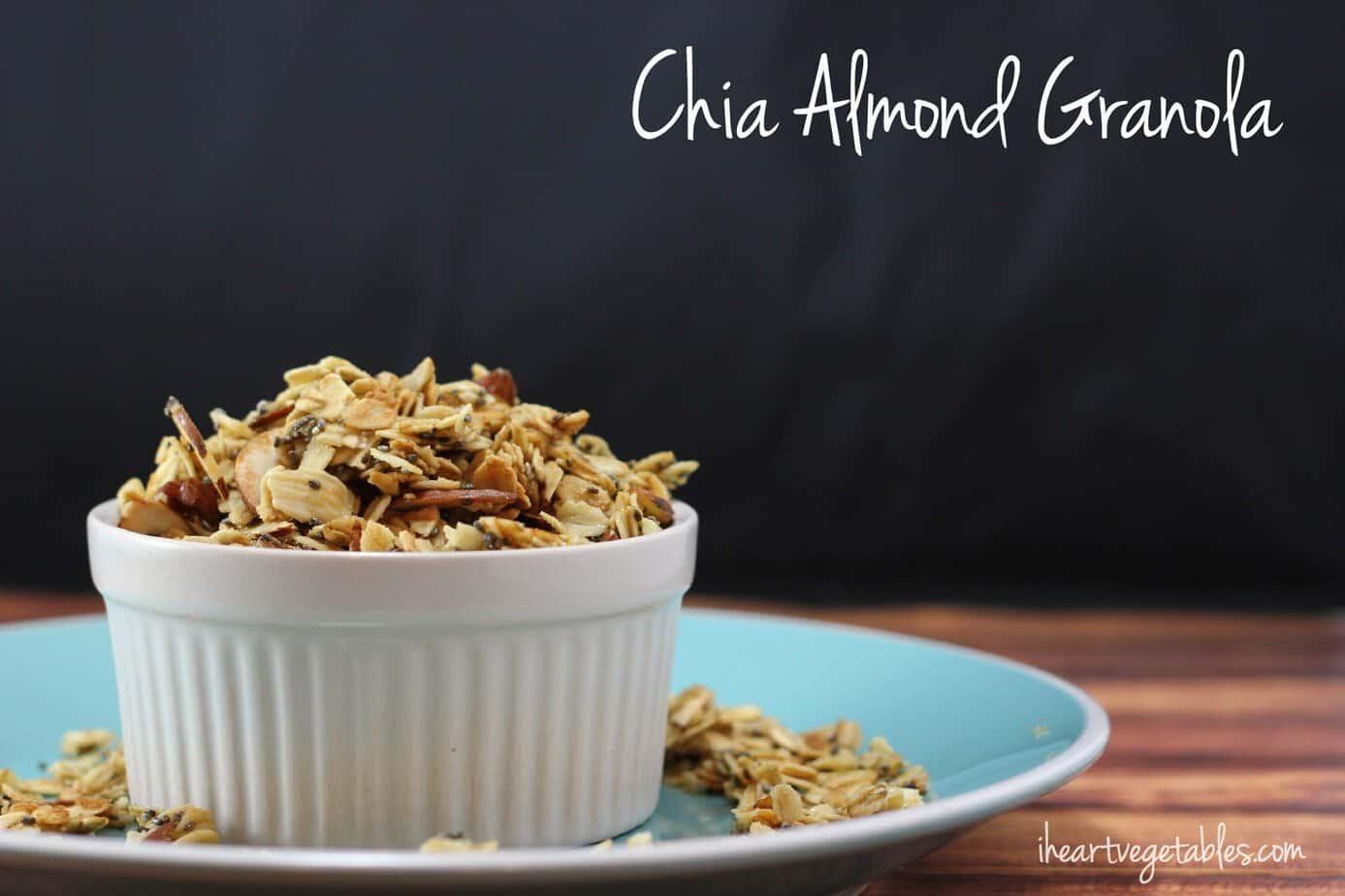Chia Almond Granola [Gluten Free] - I Heart Vegetables