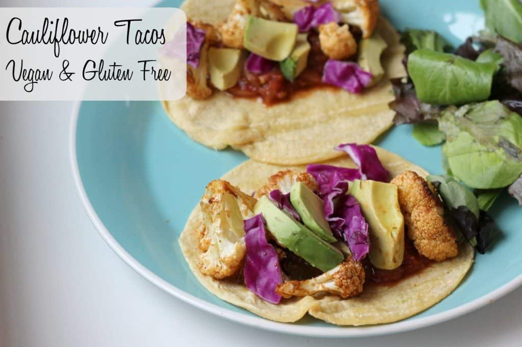 vegan and gluten free cauliflower tacos