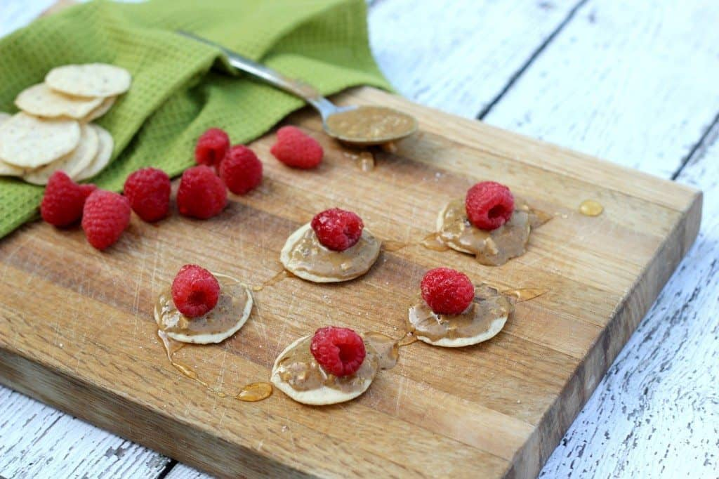 raspberries with almond butter