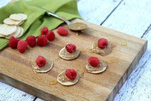 Raspberry Almond Butter Bites