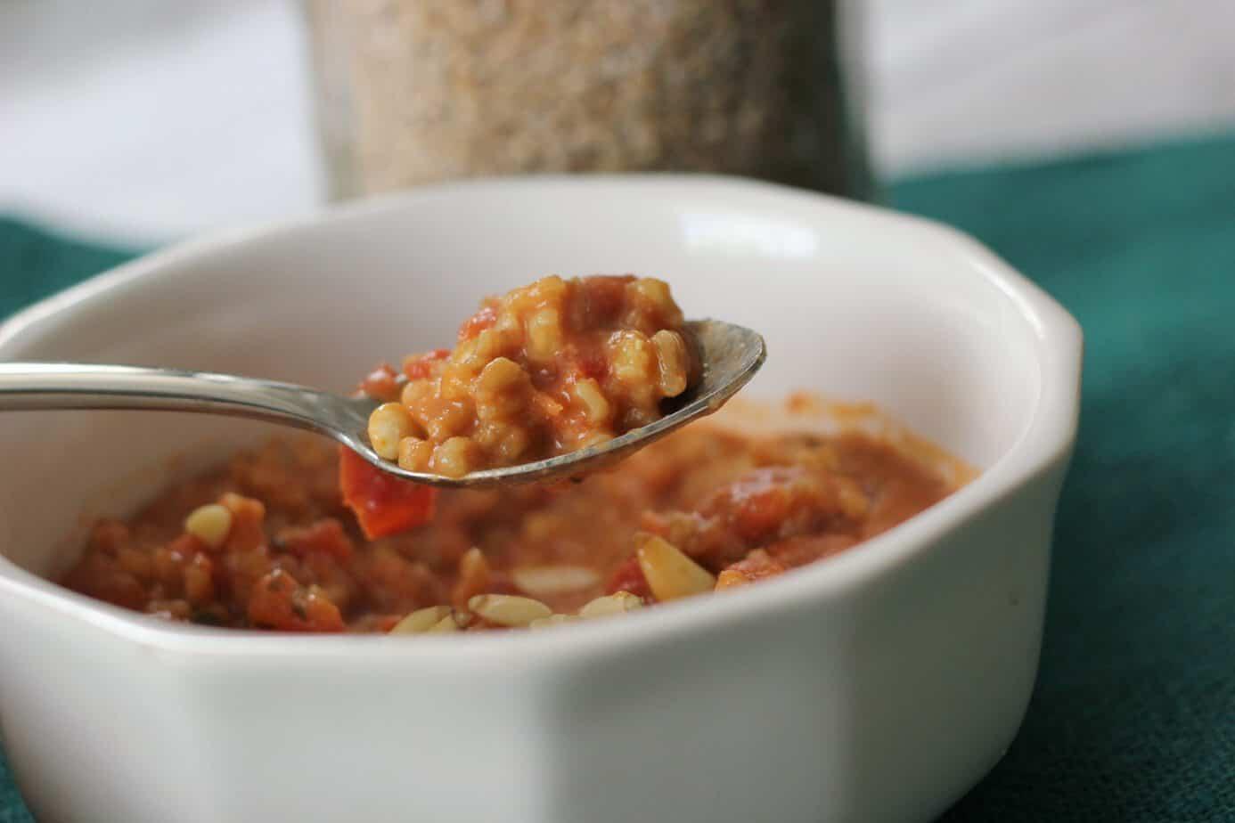tomato and farro risotto