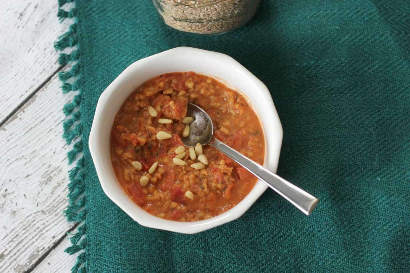 tomatos and farro