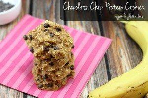 Chocolate Chip Protein Cookies [Gluten Free & Vegan]