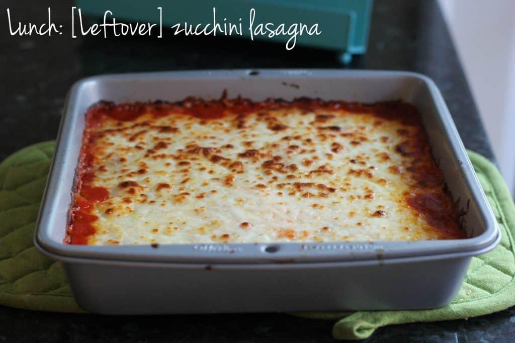 leftover zucchini lasagna