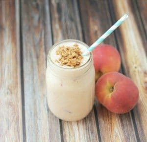 peach cobbler smoothie plain