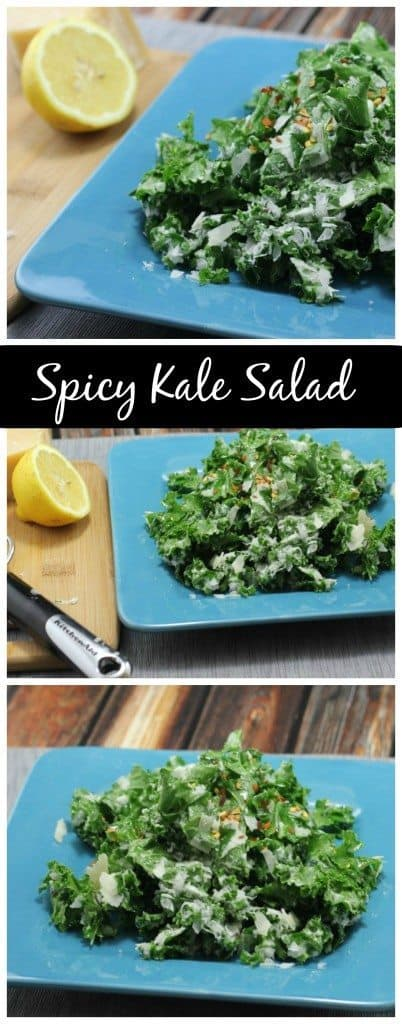 This spicy kale salad is the perfect way to have your greens... with a kick! If you love spice, you'll love this salad!