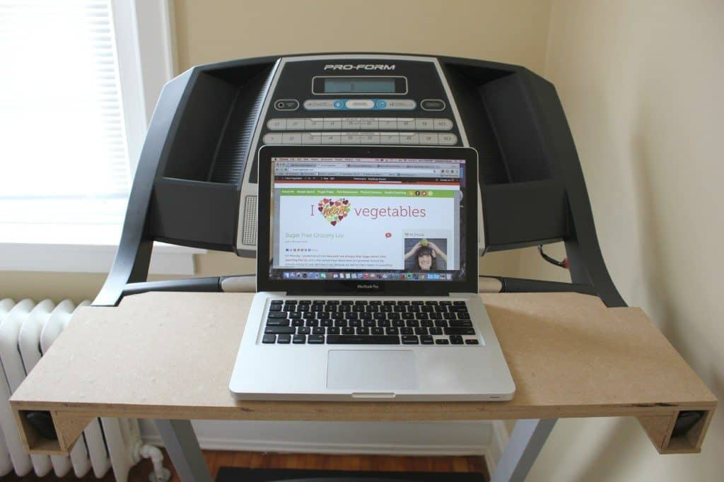 DIY cheap treadmill desk
