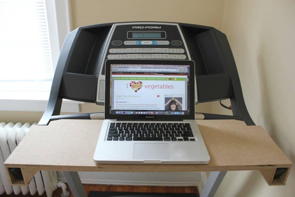 DIY cheap treadmill desk