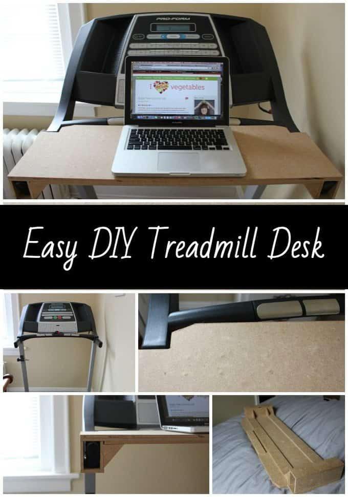 Easy DIY Treadmill Desk