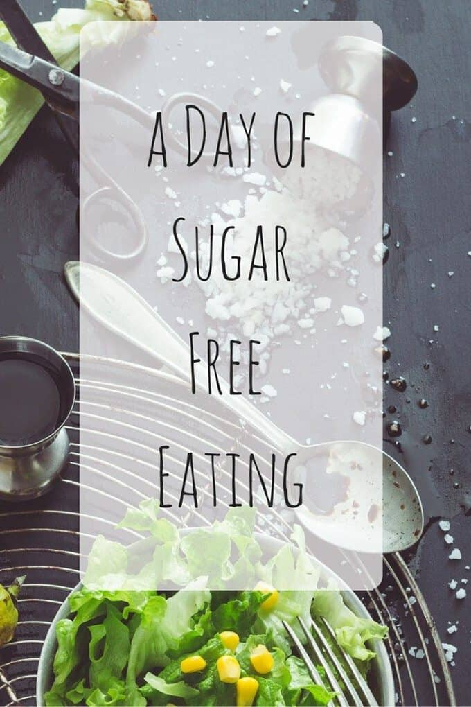 Eating sugar free can be tricky because there is SO much hidden sugar in our food! Here's a full day of mostly sugar-free meals!