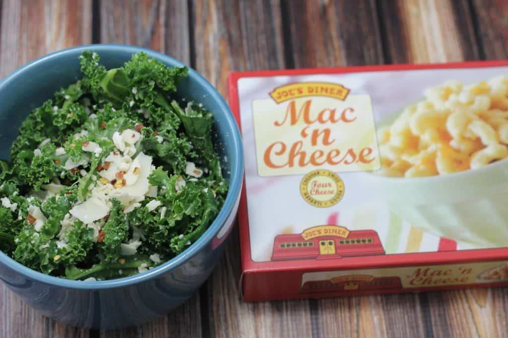 kale salad with chili pepper