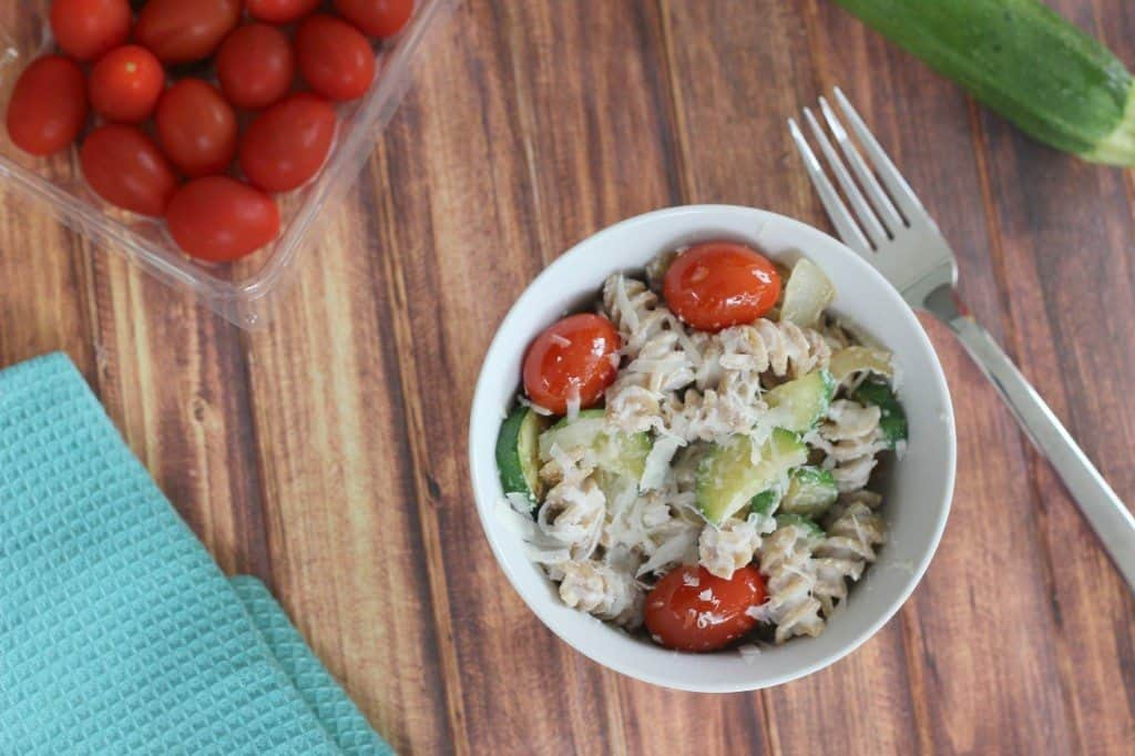 pasta with ricotta and vegetables