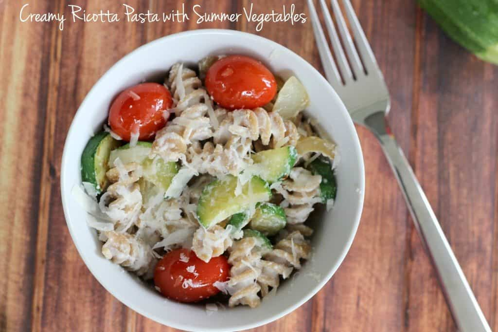 ricotta pasta with vegetables