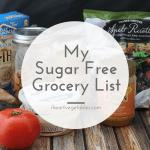 Sugar Free Grocery List
