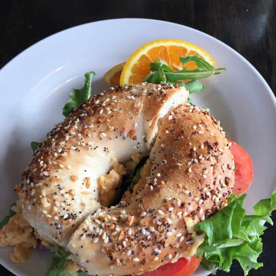 lamplighter bagel sandwich